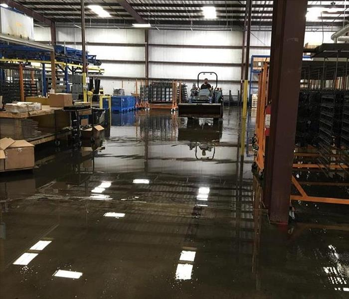 Water Damage Flooded Warehouse in Terrell, TX